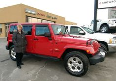 10 March 2017 Mary is one happy customer with her new Jeep! Now she'll be reminiscing in the old days of her 2-door Wrangler every time she gets in. Thank you again so much for your business and I look forward to seeing you guys in service soon!  #happyclient #newride #kingston #kingstoncars #canada #canadacars #ontario #ontariocars