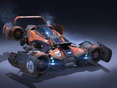 Jet Powered vehicle made in Maya and rhino