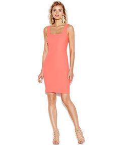 Bar III Sleeveless Textured Sheath Dress - Dresses - Women - Macy's