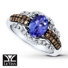 Le Vian Tanzanite Ring 3/8 ct tw Diamonds 14K White Gold