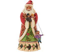 Jim Shore Heartwood Creek 9 3/4 Santa with Toys Figurine