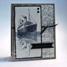 Stampin' Up! Traveler - Another workshop card with Reflection Technique