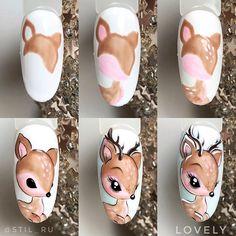 Nail Designs ✰A Fashion Star✰ Diy Christmas Nail Art, Christmas Gel Nails, Xmas Nail Art, Disney Acrylic Nails, Best Acrylic Nails, Nail Art Hacks, Nail Art Diy, Fancy Nails, Cute Nails