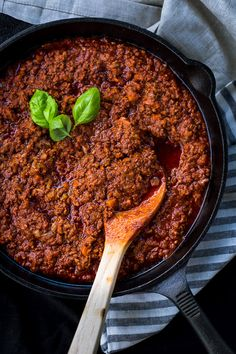 Marta's Rustic Pork & Beef Ragu - Smoky and spicy flavours from paprika and nduja make this hearty sauce a winner for us. Have it with eggs for breakfast, or pasta with dinner. Winter warmer for sure! | wandercooks.com