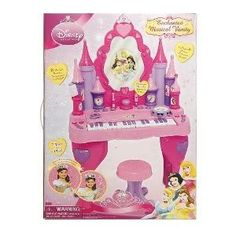 Toy / Game 100% Brand New Disney Princess Keyboard Vanity With Play Nail Polish/Bell And Lipstick/Whistle