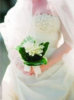 How elegant is this baby's breath bouquet?! Lovely in its simplicity.