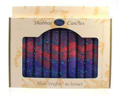 12 Shabbat Candles - Multicolor