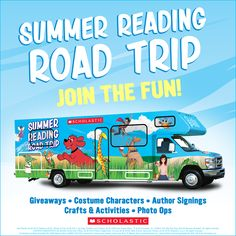 The Summer Reading Road Trip has begun!  From now through July 31st, 2 RVs will travel a combined 10,000 miles across the country, bringing pop-up reading festivals to 25+ cities. Click through to learn more. #summerreading