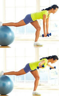Balancing back fly brings back balance strengthens the rhomboid muscles in your upper back and rear deltoids