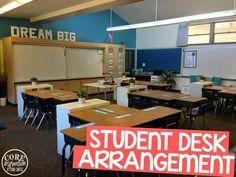 Core Inspiration by Laura Santos: Classroom Tour: Student Desk Arrangement