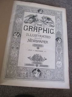 SCARCE THE GRAPHIC ILLUSTRATED NEWSPAPER JULY-DEC 1872 VOLUME, GREAT PLATES!