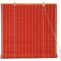 Bamboo Roll Up Blinds in Red Width: 72 by ORIENTAL FURNITURE. $61.95. Ships Next Business Day from Massachusetts Via Fed Ex - Expedited Deliv. Available. Choose 2, 3, 4, 5, or 6 Feet Wide - Opens Up to Six Feet Long - Easy Mount Design. Browse Our Selection of 30+ Bamboo Roll Up Window Blind Designs on Amazon.com. Designed to Overhang Window Opening - Mount on 2 Hooks to Cover Window & Window Frame. Reliable Retractable Roll Up Hardware - Red Painted Bamboo Blinds & Natural Ma...