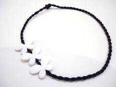 Butterfly Necklace Black and White by bytugce on Etsy, $15.00