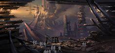 Star Wars III concept art by Ryan Church