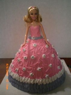 barbie doll cake - reminds me of my birthday party growing up.  Mom made these for me and my friend's
