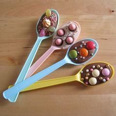 Doing similar thing for Christmas gifts- make a bundle of dipped spoons, tuck in a mug, and give with a small bag of coffee.