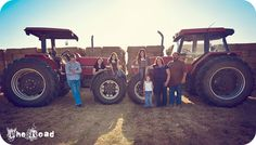 Farm family, tractor