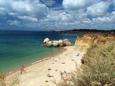 Beach of Praia da Rocha in Portimao. Algarve, Portugal #Sponsored , #sponsored, #affiliate, #Praia, #Algarve, #Portugal, #da Algarve, Lisbon, Travel Usa, Jamaica, Places To Visit, At Least, Florida, Stock Photos, World