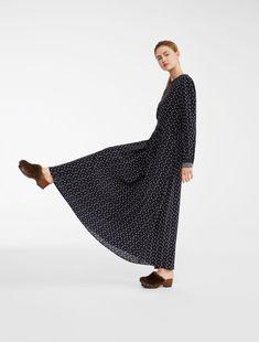 40f970e6c6 Długa sukienka z czystego jedwabiu