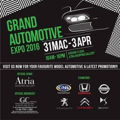 31 Mar-3 Apr 2016: Atria Shopping Gallery Grand Automotive Expo 2016