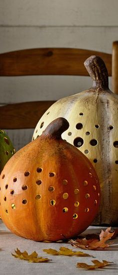 Faux Pumpkin Luminaires   Buyer Select … for all my little corners during October and November
