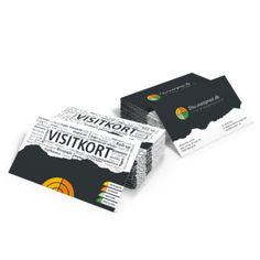 Visitkort digitaltryk produceres i formaterne 85x54 eller 90x55 mm. på 350 gr. Silk, er billigste valg hvis du skal have få af en eller flere forskellige visitkort.