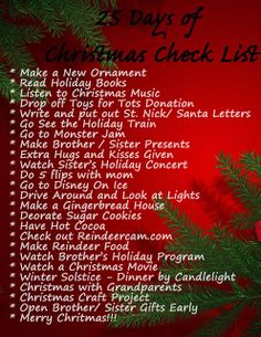 Save Green Being Green: Try It Tuesday: 25 Days of Christmas Check List Ideas to do this holiday season