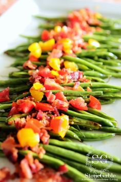 StoneGable: ROASTED GREEN BEANS WITH BACON... A MUST TRY!