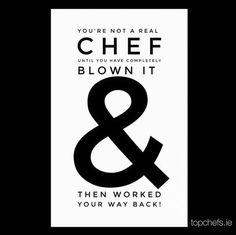 Everyone loves a good comeback! :-) #Chefs #ChefLife