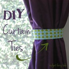 It took me about an hour to make these diy fabric curtain ties for my bedroom window. I already feel classier!