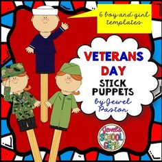 Engage your students this Veterans Day with a puppet-making activity using these Veterans Day Stick Puppet Templates.