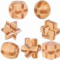[ 30% OFF ] 7Pcs/lot 3D Eco-Friendly Bamboo Wooden Toys Iq Brain Teaser Burr Adults Puzzle Educational Kids Unlocking Games