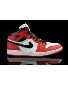 Nike Air Jordan 1 Retro KO High Mens Shoes White   Black   Varsity Red All eba3a440b