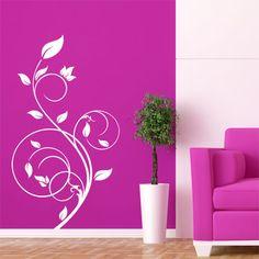 Adesivo decorativo de parede - arabesco floral.
