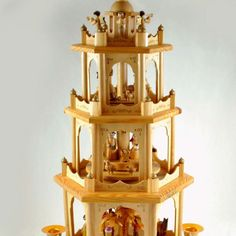 Vintage German Christmas pyramid carousel