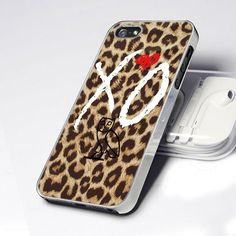 CDP 0007 Weeknd White Xo Leopard Cheetah Overdose - Design for iPhone 5 case