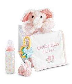 Personalized Baby Gift Set - Pink - New Baby Gift  #PersonalCreations #BabyProduct