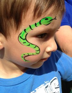 My face painting this summer...snake!