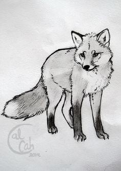 Tattoo sketch - Fox by Calcah.deviantart.com on @deviantART