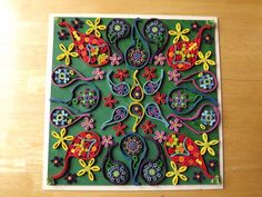 As above so below.  Toliet paper roll quilling painting