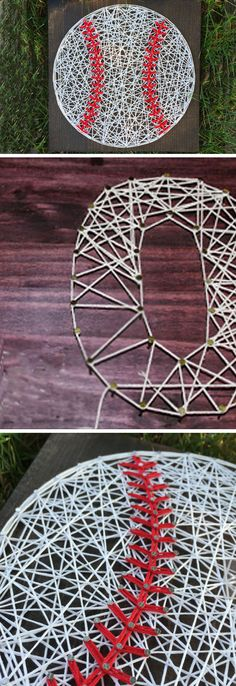 Baseball String Art | DIY Christmas Gifts for Boyfriends