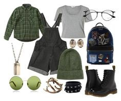 """""""green"""" by maria-springer on Polyvore featuring Mode, Miss Selfridge, Roark Revival, Victoria, Victoria Beckham, Topshop, title of work, Dr. Martens, Dolce&Gabbana, Ray-Ban und Valentino"""