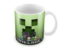 Super Caneca Personalizada da Dose Dupla Design - Minecraft