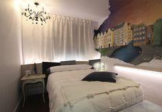 Una habitación romántica donde los sueños se dibujan en la pared