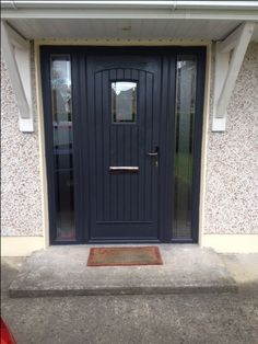 "Palladio Composite ""T&G"" Door in Anthracite Grey"