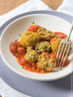 Recette bio sans gluten : Boulettes d'aubergine alla Parmigiana