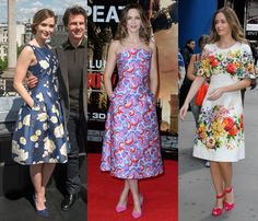 Emily Blunt on how to wear the floral-print dress.
