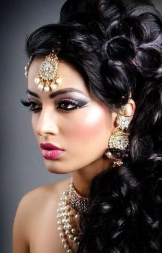 #CurlyHair #HairAndMakeup #Bridal #hair ideas, #wedding day hair #styles, Indian #BridalHairStyles, hair styles for #weddings,  #Beautiful, Awesome hair styles