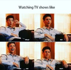 Me watching the flash and supergirl Stupid Funny Memes, Funny Relatable Memes, Hilarious, Funny Pins, Dc Comics, The Flashpoint, Flash Funny, The Flash Grant Gustin, Dc Tv Shows