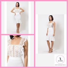 Midi Mermaid Skirt Dress #DRESSES #APPAREL #NewArrivals #MakeAnOffer #getthelook #style #lifestyle #shopladylboutique #glam #shopstyle Lady L, Beauty Boutique, Mermaid Skirt, Denim Jumpsuit, Dress Skirt, Wide Leg, Short Sleeves, Legs, Unique